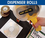 Dispenser Rolls Tape