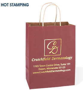 Custom Hot Foil Stamped Paper Bags