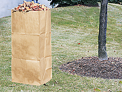 how to close paper yard waste bags