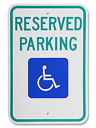 "12 x 18"" Handicapped Parking Sign"