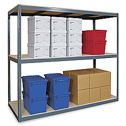 "Wide Span Storage Rack, 96 x 24 x 96"" - Particle Board"