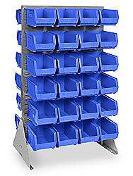 "36 x 66"" Double Sided Floor Rack with 15 x 8 x 7"" Bins"
