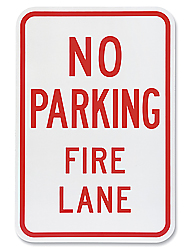 "12 x 18"" No Parking-Fire Lane Sign"