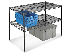 Two-Shelf Adjustable Wire Shelving Unit, 36 x 18 x 34""