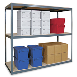 "Wide Span Storage Rack, 72 x 36 x 120"" - Particle Board"