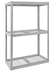 "Wide Span Storage Rack, 60 x 48 x 60"" - Wire Decking"