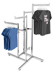 4 Way Straight Arm Clothes Rack
