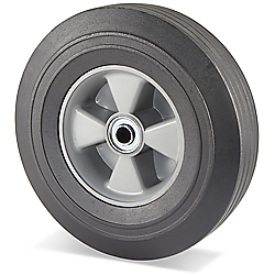 "10"" Solid Rubber Wheel - 400 lb. Capacity"