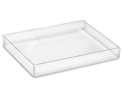 "5 3/4 x 4 1/2 x 3/4"" Clear Stationery Boxes"
