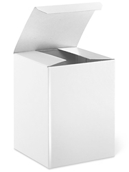 "3 x 3 x 4"" White Gloss Gift Boxes"