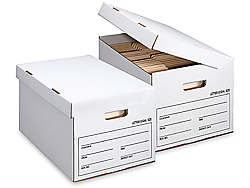 "15 x 12 x 10"" Flip-Top Storage File Boxes"
