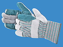 Double Palm Leather Gloves with Safety Cuff