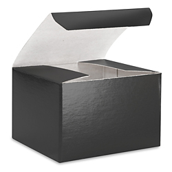 "3 x 3 x 2"" Black Gloss Gift Boxes"