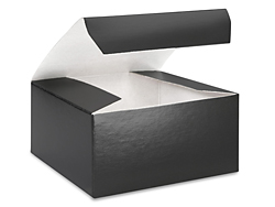 "4 x 4 x 2"" Black Gloss Gift Boxes"