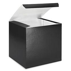 "7 x 7 x 7"" Black Gloss Gift Boxes"