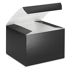 "5 x 5 x 3 1/2"" Black Gloss Gift Boxes"