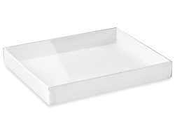 "5 3/4 x 4 1/2 x 3/4"" White Stationery Boxes"