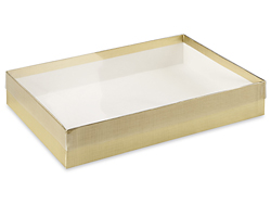 "9 5/8 x 6 3/8 x 1 5/8"" Gold Stationery Boxes"