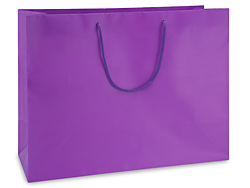 "16 x 6 x 12"" Vogue Purple Matte Laminate Bags"