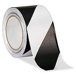 "3"" x 36 yards White/Black Industrial Vinyl Safety Tape"