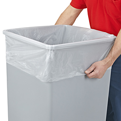 "36 x 60"" 44-55 Gallon .55 Mil Coreless High Density Trash Liners"