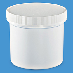 12 oz. White Wide-Mouth Jars