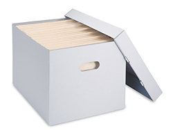 "15 x 12 x 10"" Archival Storage File Boxes"