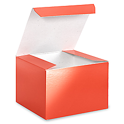 "5 x 5 x 3 1/2"" Red Gloss Gift Boxes"
