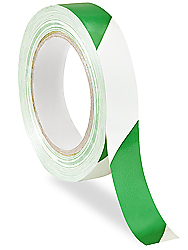 "1"" x 36 yards Green/White Industrial Vinyl Safety Tape"