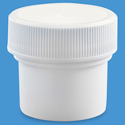 1/2 oz. White Wide-Mouth Jars - Bulk Pack
