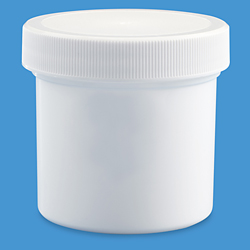 3 oz. White Wide-Mouth Jars - Bulk Pack