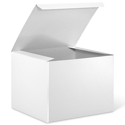 "8 x 8 x 6"" White Gloss Gift Boxes"
