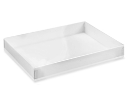 "7 3/8 x 5 3/8 x 1"" White Stationery Boxes"