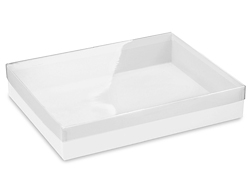 "11 1/4 x 8 3/4 x 2"" White Stationery Boxes"