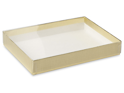 "6 9/16 x 4 13/16 x 1"" Gold Stationery Boxes"