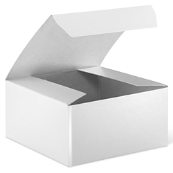 "4 x 4 x 2"" White Gloss Gift Boxes"