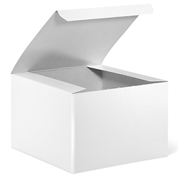 "6 x 6 x 4"" White Gloss Gift Boxes"
