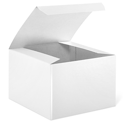"5 x 5 x 3 1/2"" White Gloss Gift Boxes"