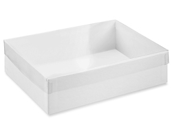 "7 3/8 x 5 3/8 x 2"" White Stationery Boxes"