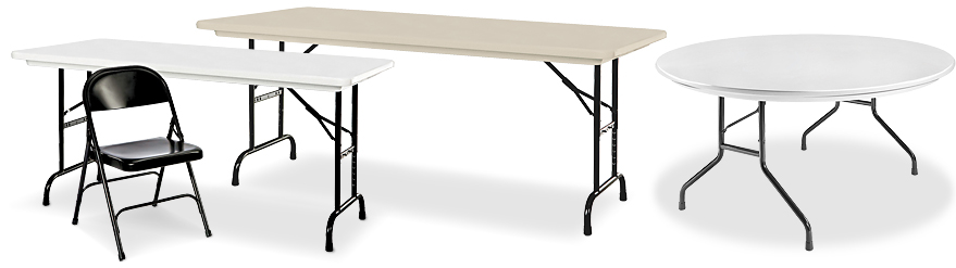 Deluxe Folding Tables & Chairs in Stock ULINE