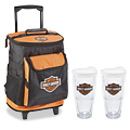Harley-Davidson® Rolling Cooler and Tumbler Combo
