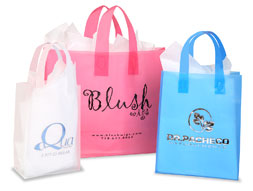 Custom Printed Frosty Shopping Bags