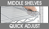 Quick Adjust Wire Shelving